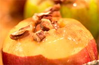 Baked Apples with Custard